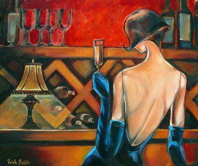 femme au bar de dos deTrish Biddle