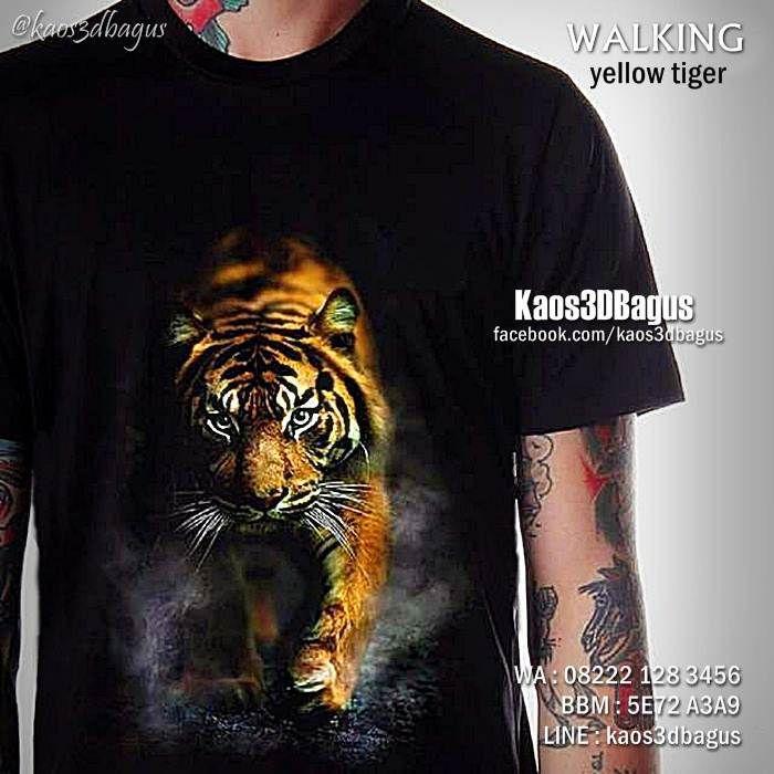 Kaos HARIMAU, Kaos MACAN, Kaos TIGER, Kaos ANIMAL, Kaos3D, Walking Tiger, Kaos HARIMAU SUMATERA, https://www.facebook.com/kaos3dbagus, WA : 08222 128 3456, LINE : Kaos3DBagus