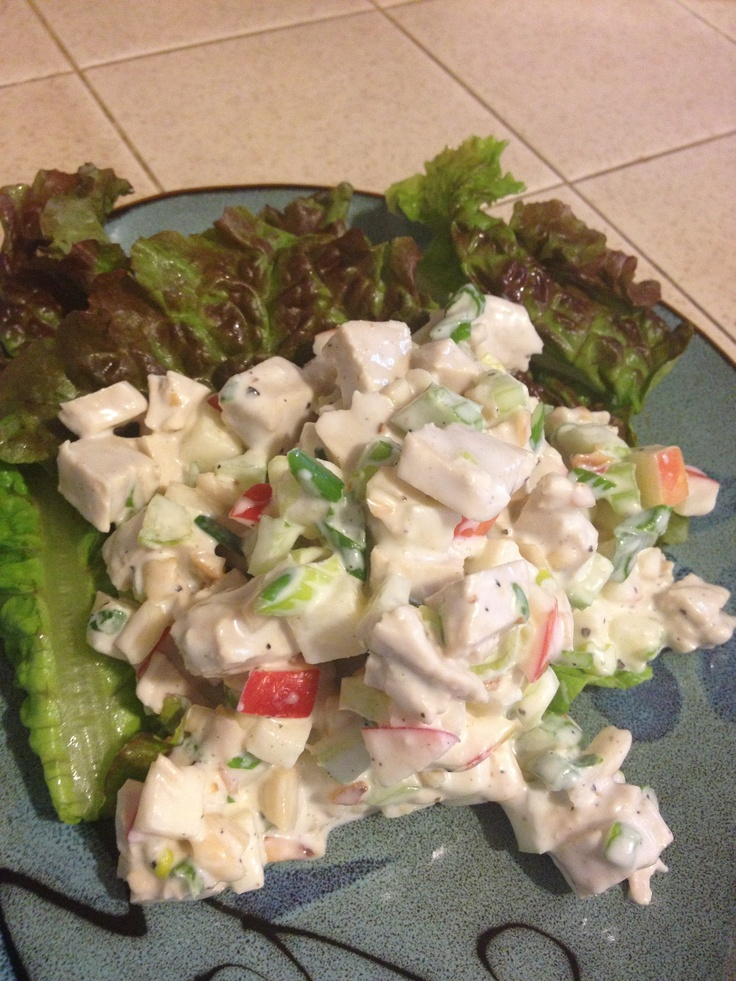 VEGAN Waldorf Chick N Salad with BEYOND MEAT Vegan/Gluten-Free Chiken
