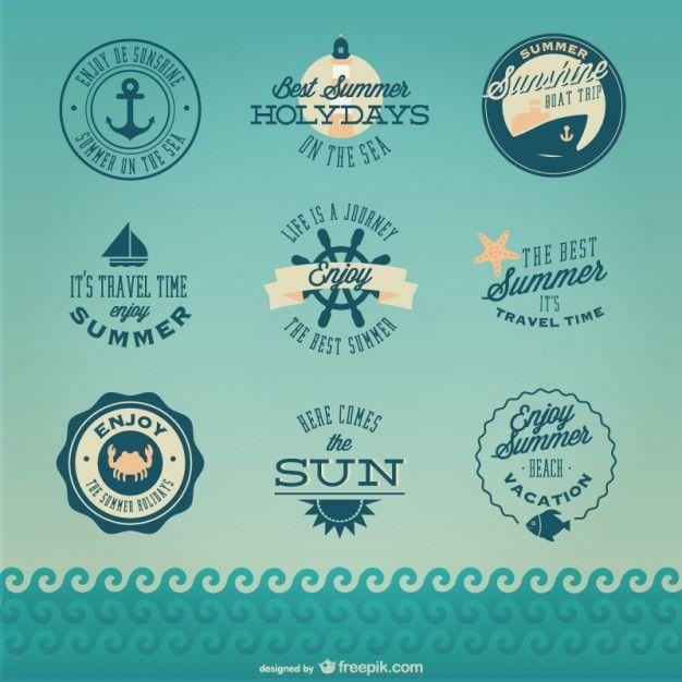 Conjunto de logos náuticos Vector Gratis