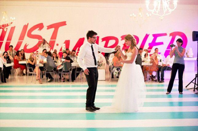 striped dance floors - fab