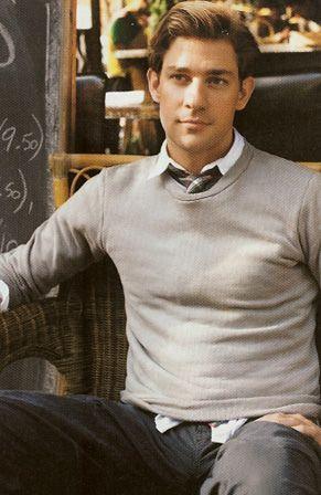 grey sweater on top of grey tie