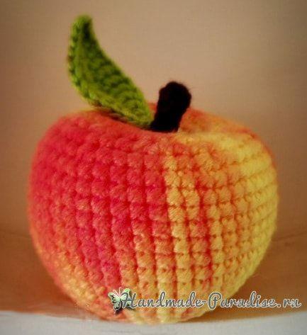 Вяжем яблочко крючком. Схема (3)