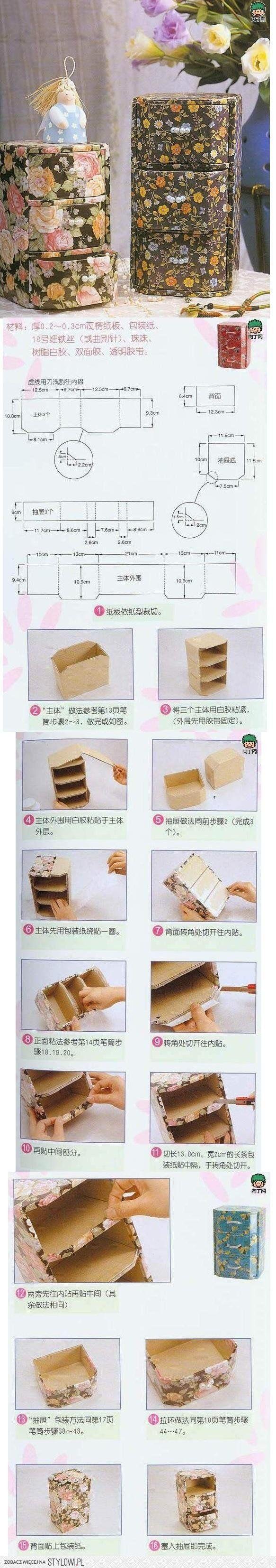 Fabric covered box - Cartonnage