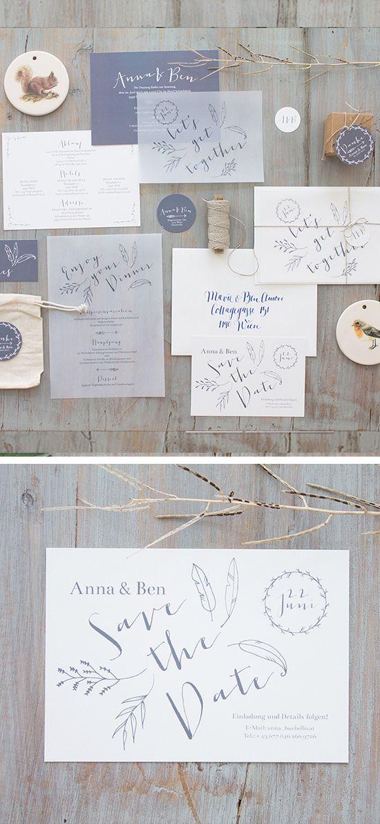 #Save the Date (2,30 EUR) und dazupassende #Hochzeitseinladungen, online bestellbar bei www.papierhimmel.com