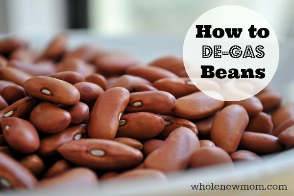 "How to De-Gas Beans. This REALLY works! Find out how to take the gas out of beans and make sure you don't end up ""gassing"" everyone else out after eating a bean-filled meal!"