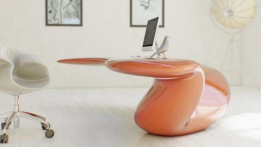 Mobiliario futurista diseñado para resultar atractivo