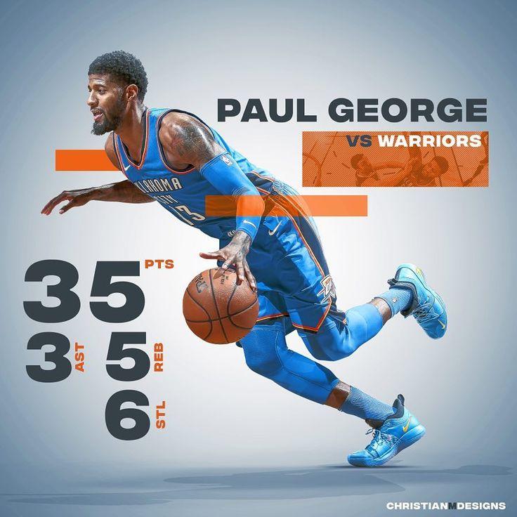 180 отметок «Нравится», 11 комментариев — Graphic Designer (@christianmdesigns) в Instagram: «Paul George was on FIRE vs the Warriors, just ask Zaza Pachulia! @ygtrece #PaulGeorge #Thunder…»
