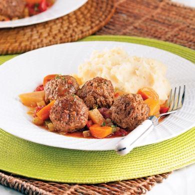 Stew aux boulettes de boeuf - Recettes - Cuisine et nutrition - Pratico Pratiques - Comfort food
