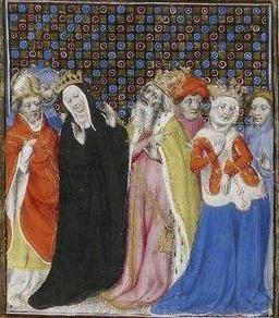 Giovanni Boccaccio, De Claris mulieribus; Paris Bibliothèque nationale de France MSS Français 598; French; 1403, 154v. http://www.europeanaregia.eu/en/manuscripts/paris-bibliotheque-nationale-france-mss-francais-598/en