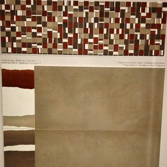 Нейтральные цвета для стен и пола дополнены яркими декоративными нюансами в коллекции DWELL Wall&Floor Design от atlas concorde. #вседляванной #плитка #керамика #мозаика #сантехника #тренд #мебельдляванной #tile #handmade #luxe #яркийдизайн #designtrip #BolognaFiera #Bologna #Cersaie2015