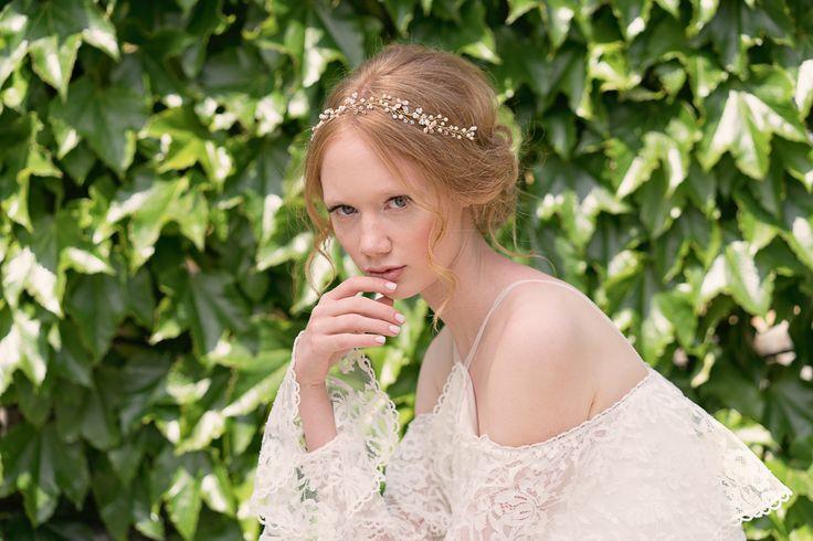 Syreeni Blush hairvine in bridal styling