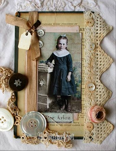 altered book cover by Paper Whimsy paperwhimsy by @Nancy Maxwell James