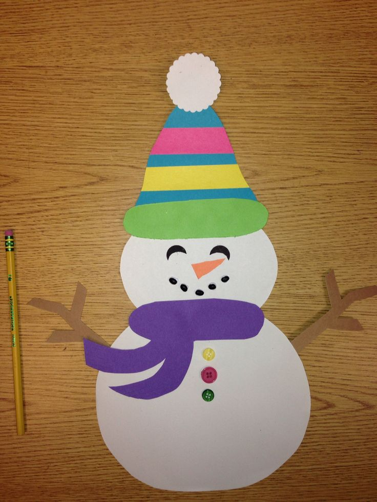Snowman craft  - easy.  Kindergarten or 1st grade. I used Black beans for his/her mouth.