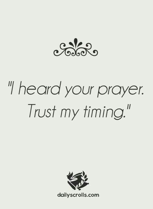 His timing is always perfect!