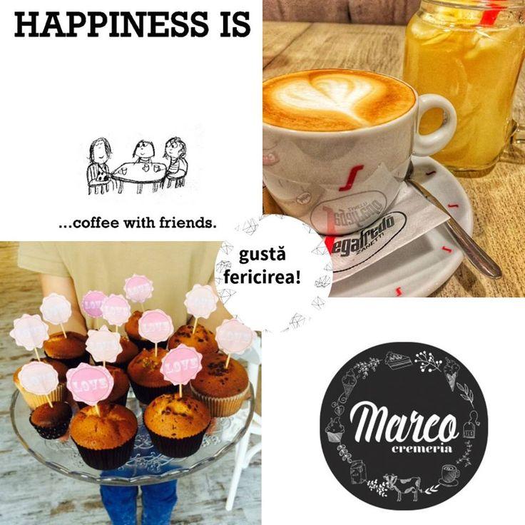 Cafeaua cu prietenii te face mai fericit și mai inspirat. Uite ce poze frumoase postează clienții Cremeria Marco! #fericirea #cafea #prieteni #pitesti