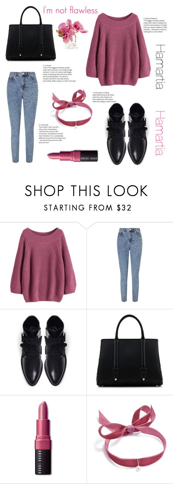 """""""Colored Sweater: Hamartia"""" by yosifova ❤ liked on Polyvore featuring Miss Selfridge, A.F. Vandevorst, La Perla, Bobbi Brown Cosmetics, Mateo, Winter, casual, contest, outfit and autumn"""