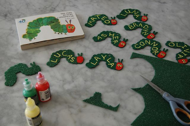 One of my residents asked me to do a Hungry, Hungry Caterpillar bulletin board. These door decs would be perfect.