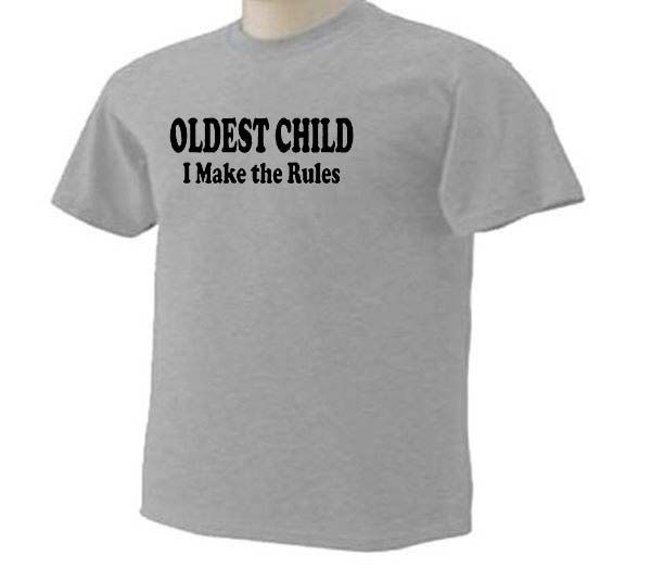 KIDS Oldest Child I Make The Rules Funny Family Sister Brother Humor T-Shirt by TeeDesignsbyVR on Etsy