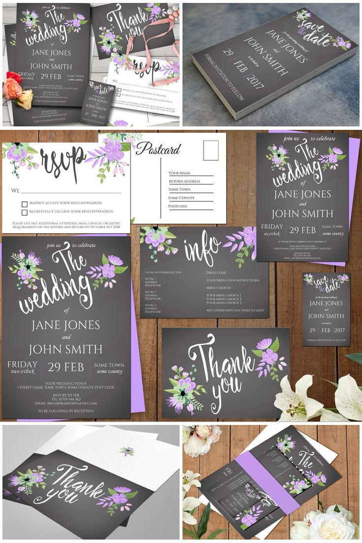 wedding invitation wording with no reception%0A Are you searching for the perfect lilac and grey wedding invitation suite   Then look no