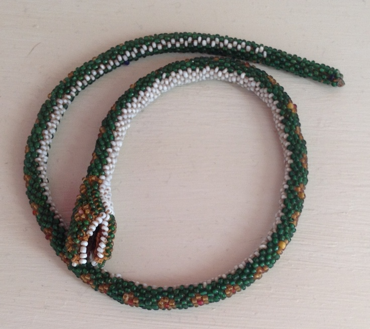 Antique beaded snake