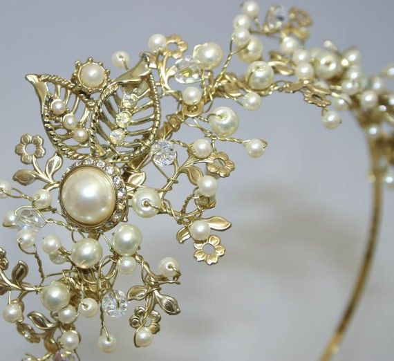 tiara with pearls