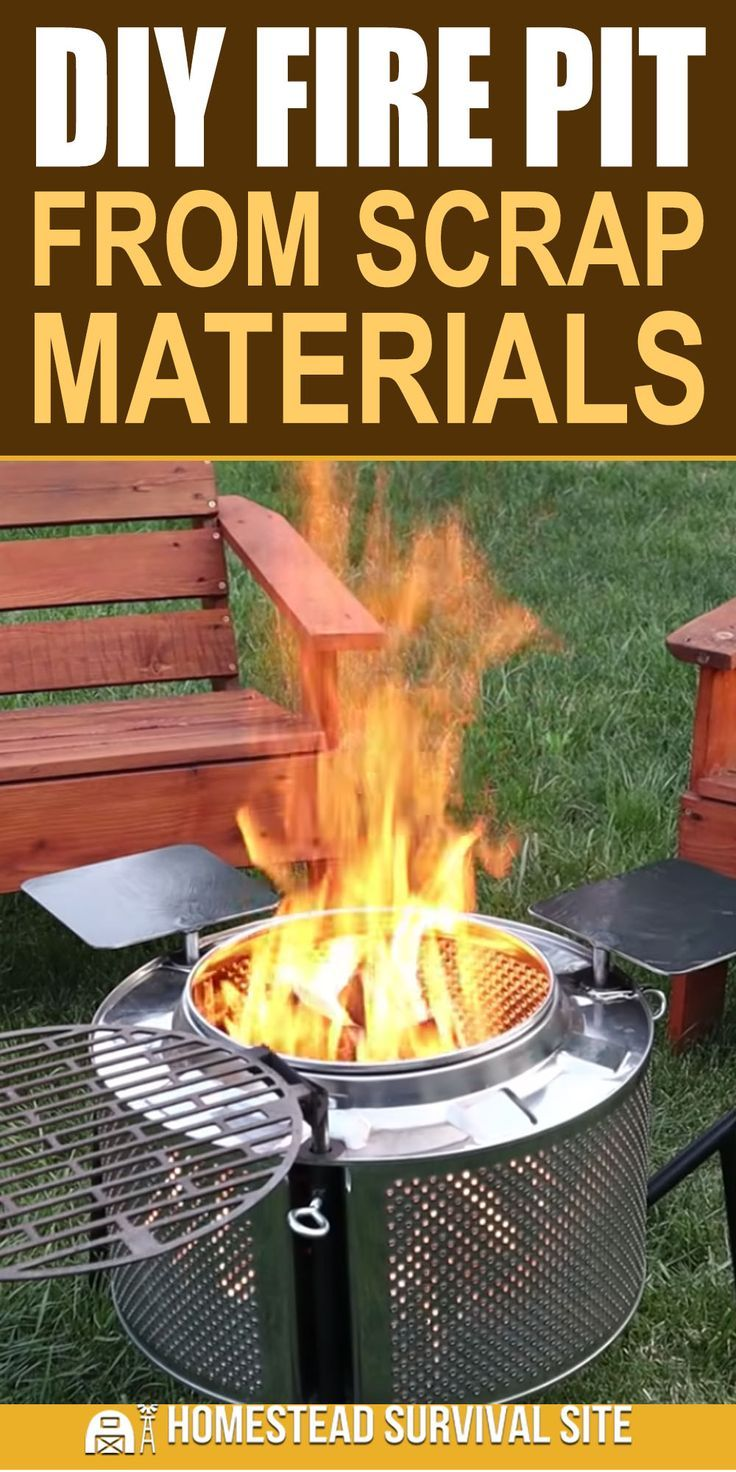 Diy fire pit from scrap materials fire pit diy fire pit