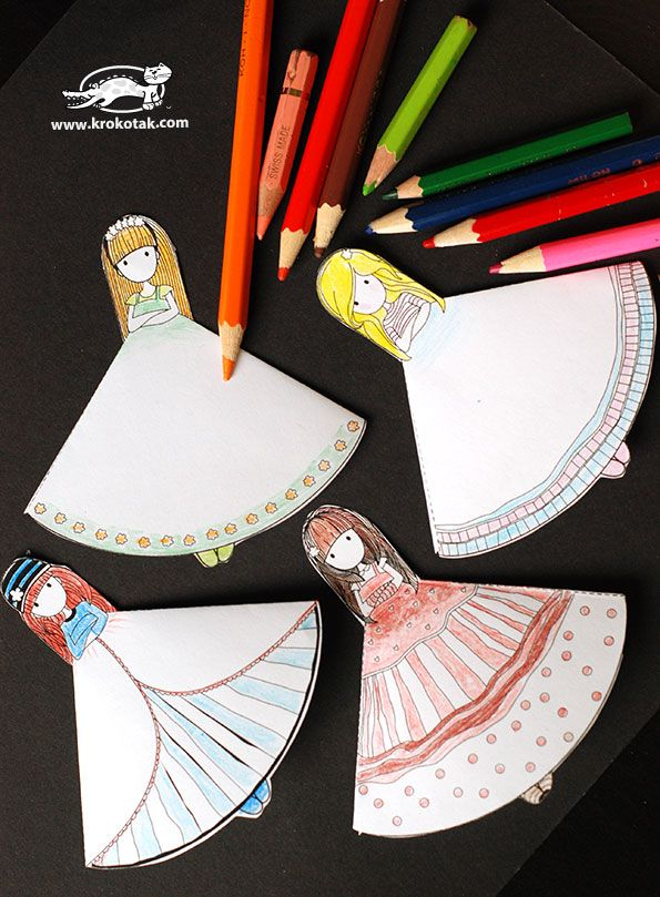 BOOKMARKS for girls | krokotak