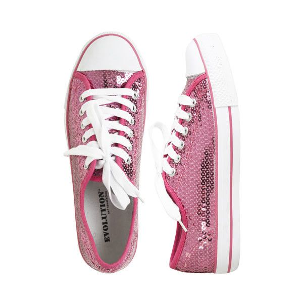 Sequin Tennis Shoe - Teen Clothing by Wet Seal ($10) ❤ liked on Polyvore featuring shoes, sneakers, converse, sapatos, tenis, wet seal shoes, tenny shoes, wet seal, tennis shoes and tennis trainer
