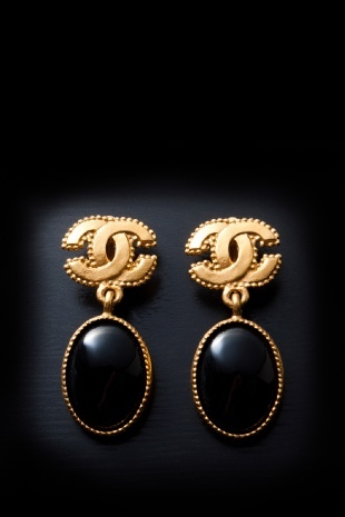 Vintage Pre-Owned Chanel Clip-on Drop Earrings
