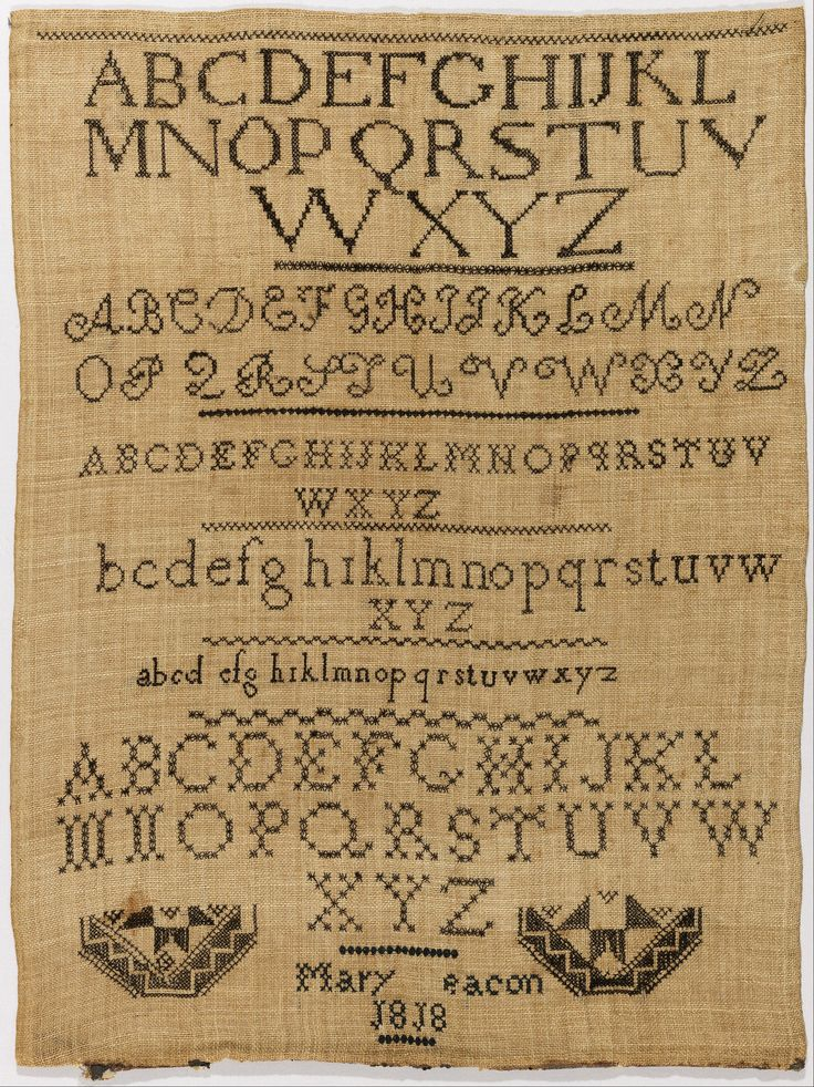 Mary Beacon 1818 Sampler