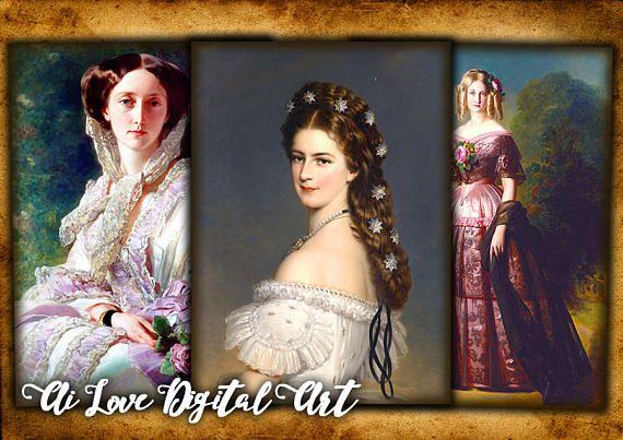 Instant download card making digital collage sheet Vintage