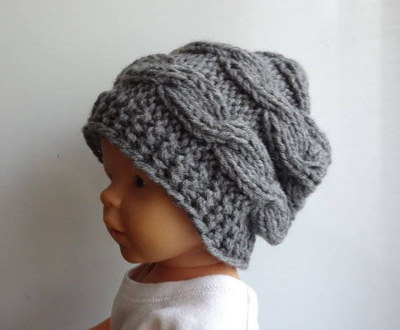 Newborn slouchy Hat  boy Slouchy Beanie  chunky hat photo