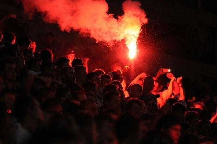 Динамо - Шахтар 14.07.2015 Суперкубок України. Фанати Динамо. Dynamo Kyiv - Shakhtar Donetsk 14.07.2015 Ukraine Supercup. Dynamo fans.