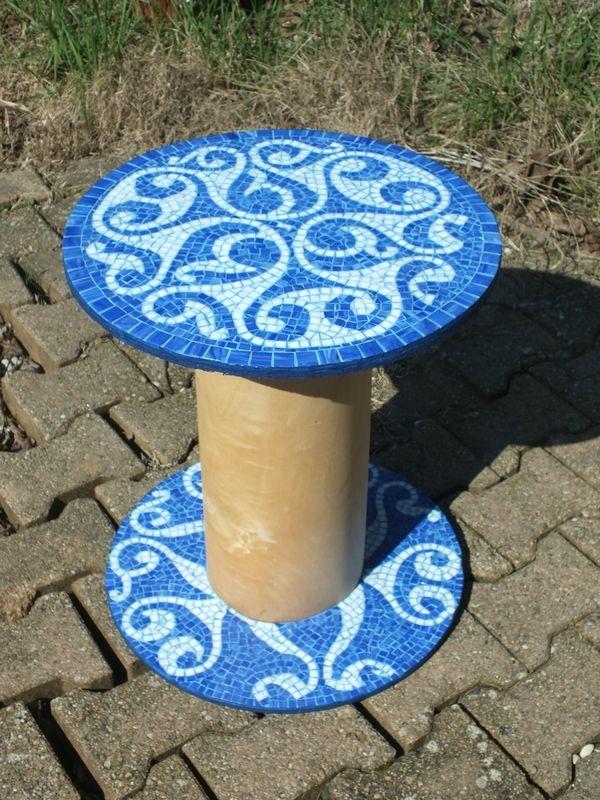 Table touret motif celtique - Spirale bleue   Touret, Motif ...