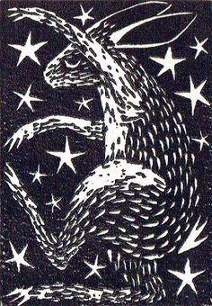 Two Plate Linocut, The Night Hare, Lino Cut, Lino Print ...