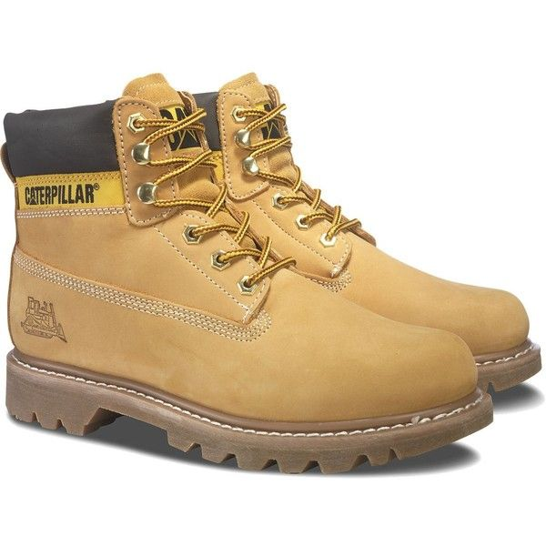 Caterpillar Cat Colorado Boot (6.710 RUB) ❤ liked on Polyvore featuring men's fashion, men's shoes, men's boots, shoes, honey, mens distressed boots, cat mens shoes, caterpillar mens shoes, mens rugged boots and mens mesh shoes