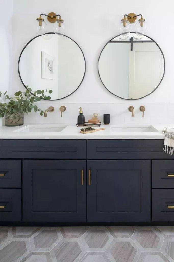 Modern Farmhouse Bathroom Double Vanity