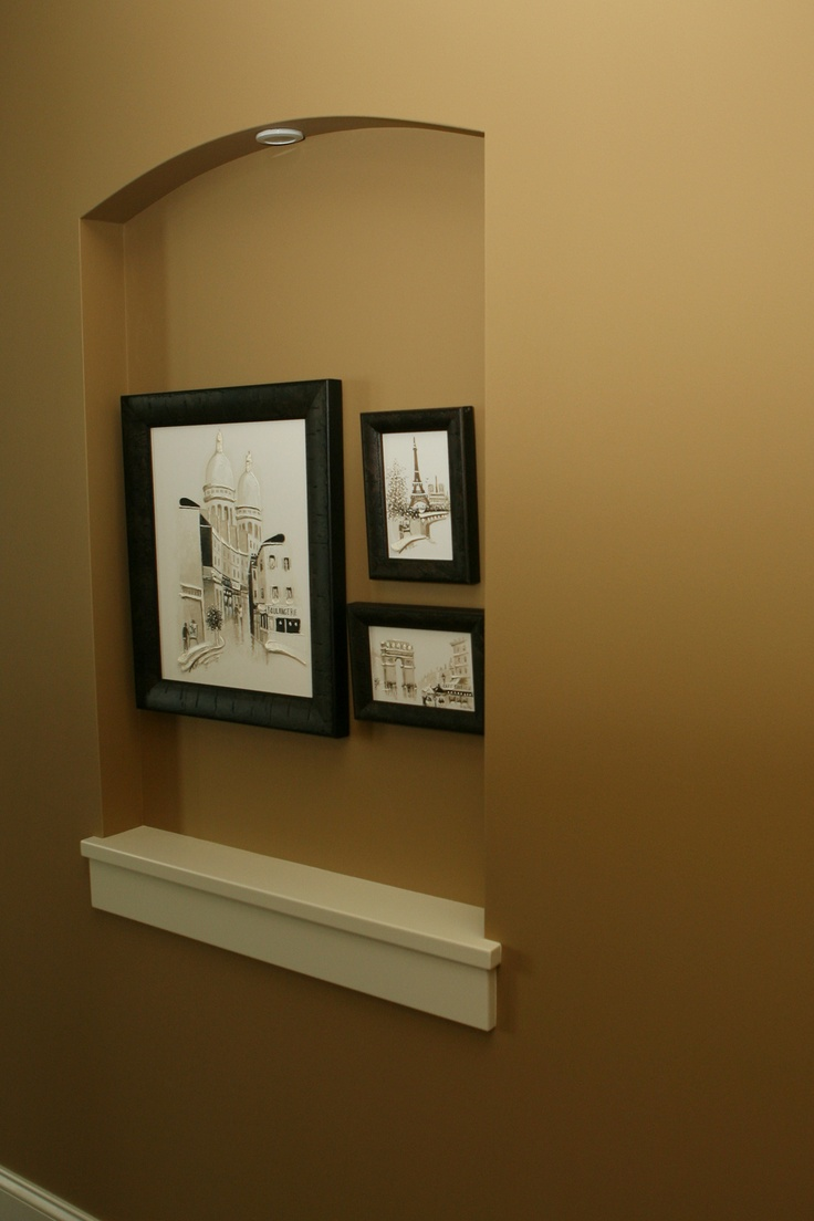 17 best images about hallway niche on pinterest for How to decorate an alcove in a wall