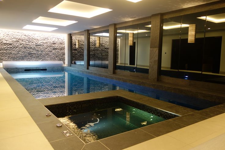 contemporary swimming pool by hunter and belle interiors