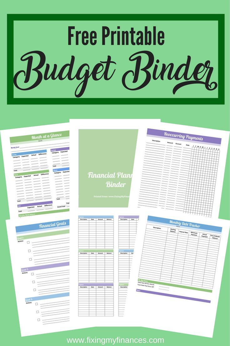 free budget binder printable create your own personal finance