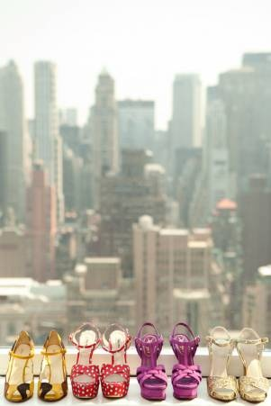 Shoes and the City.Big Cities, Polka Dots, Fashion Shoes, The View, Girls Fashion, New York, Heels, Bridal Parties, Girls Shoes
