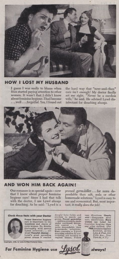 Because it's always your fault if you're a woman | 1945. Advertising History.