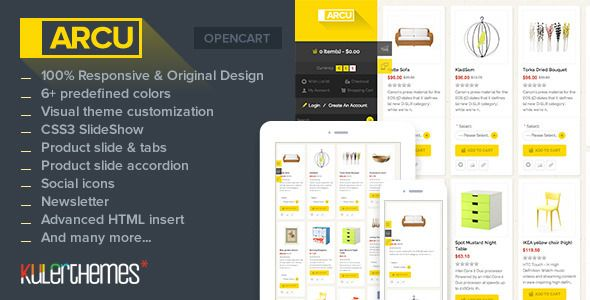 Arcu – Responsive template for OpenCart store (OpenCart) Download - PROFIREFOX