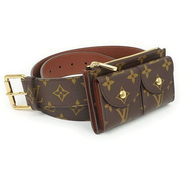 7373db839ccc Authentic Louis Vuitton Monogram Ceinture Pochette Duo Belt Fanny Pack... ❤  liked on Polyvore featuring accessories and louis vuitton