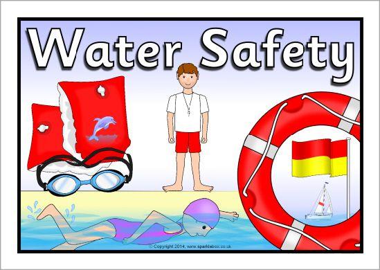 Water safety display poster sb sparklebox slp