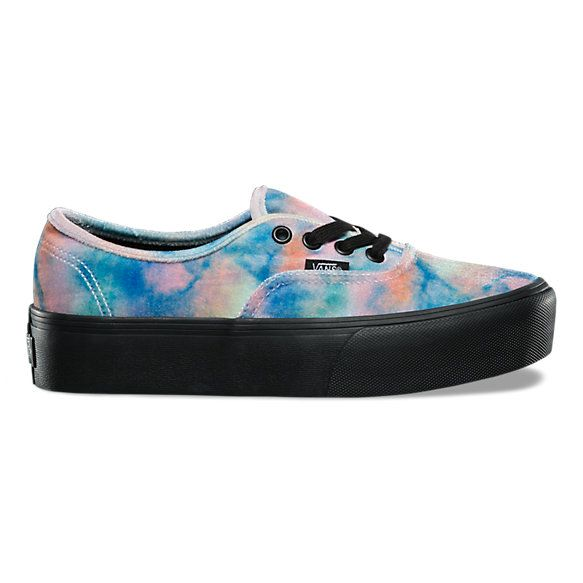 74e81a96a438 Velvet Tie-Dye Authentic Platform 2.0