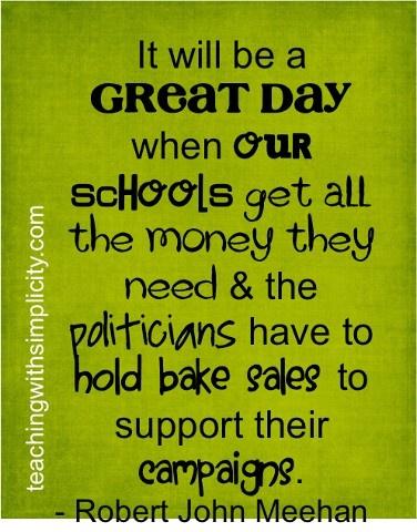 Schools vs politicians
