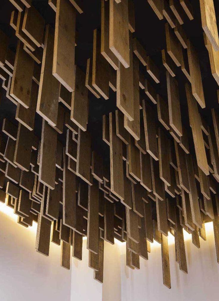 Texture and Pattern // wood ceiling // TDDA designs a rooftop bar in Mexico City