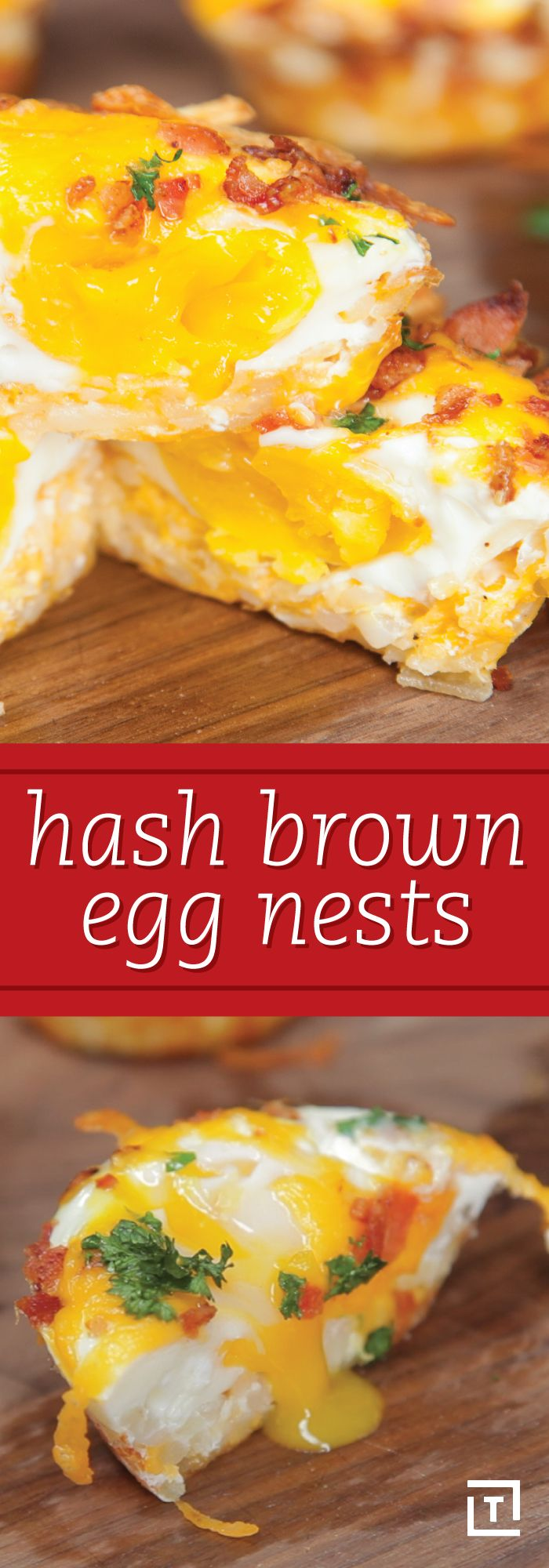 Bacon? Check. Hash browns? Check. Eggs, seasoning, and all the cheese you could possibly want? Also check. We're big fans of efficiency here at Thrillist, so it's easy to see why we're hooked on this easy recipe by Food Steez -- it combines all of our favorite breakfast foods and shrinks them down into a batch of hash brown egg nests. Each one is essentially a miniature breakfast platter unto itself, and they're equally delicious as they are adorable.